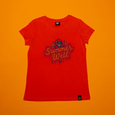 T-shirt Orange Summer Well